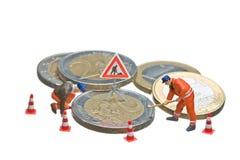 invente d'euro figures fonctionnement miniature de segment de mémoire Photo libre de droits