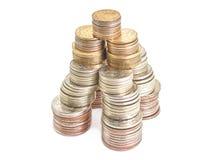 Invente l'argent de roubles dans la tour de forme financière photo libre de droits