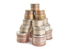 Invente l'argent de roubles dans la tour de forme financière images stock