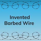 Invented barbed wire. Day in history. Flat  stock illustration Stock Photography