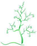 Fantasy green tree. Royalty Free Stock Images