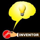 Inventeur Light Means Innovating et illustration 3d d'innovation Photos libres de droits