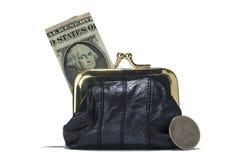 Inventez le détail de bourse d'isolement avec le billet de banque et inventez Photos libres de droits