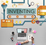 Inventing Innovation Create Creative Process Concept.  Royalty Free Stock Photography