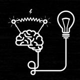 Invention - electricity of brain Stock Photo