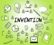 Invention Icons Means Sign Invents And Symbols Royalty Free Stock Images