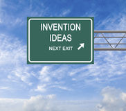 Invention idea. Road sign to invention idea Royalty Free Stock Photos