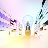Invention ideas in colorful city street  Stock Image