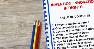 Invention , innovation and intellectual property rights concept Royalty Free Stock Image