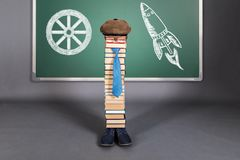 From the invention of the wheel to space travel. Education concept. From the invention of the wheel to space travel Royalty Free Stock Photos