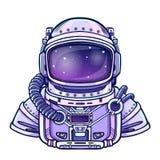 Inventions humaines : costume du ` s d'astronaute La science de profondeur illustration stock