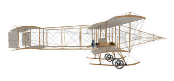 Inventor first airplane. Isolated on white. 3d rendering Stock Photo