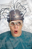 Inventor of a helmet for brain research Royalty Free Stock Images