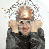 Inventor of a helmet for brain research Stock Photos