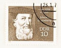 Free Inventor Johann Gutenberg Portrait Royalty Free Stock Image - 180602726