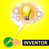 Inventor Light Means Invents y ejemplo 3d de la innovación Foto de archivo libre de regalías