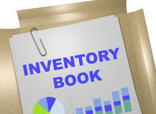 Inventory Book concept. 3D illustration of INVENTORY BOOK title on business document. Business concept Royalty Free Stock Photography