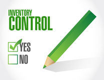Inventory control approval sign concept. Illustration design over white Royalty Free Stock Photography