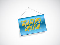 Inventory control banner sign concept Royalty Free Stock Photo