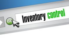Inventory control browser sign concept Stock Images