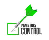 inventory control check dart sign concept Stock Photography