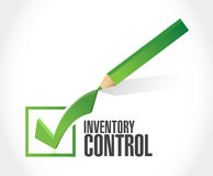 inventory control check mark sign concept Royalty Free Stock Images