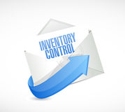Inventory control mail sign concept Stock Image