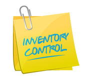 Inventory control memo post sign concept Stock Image