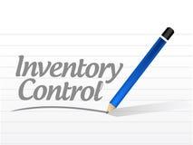 Inventory control message sign concept Stock Photos