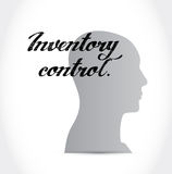 Inventory control mind sign concept Royalty Free Stock Photo