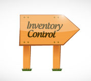 Inventory control wood sign concept Stock Images