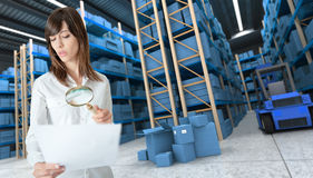 Inventory discrepancy Stock Images