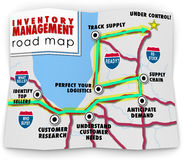 Inventory Management Road Map How to Control Products Selling Re Stock Image