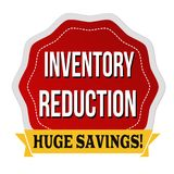 Inventory reduction label or sticker Royalty Free Stock Photo