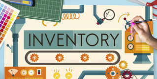 Inventory Stock Manufacturing Assets Goods Concept Stock Images