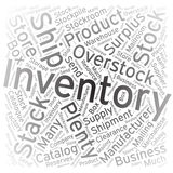 Inventory ,Word cloud art background Royalty Free Stock Photos