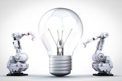 Invenzione della lampadina fotografia stock