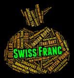 Invenzione di Franc Means Worldwide Trading And dello svizzero Fotografie Stock