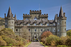 Inveraray Castle. Is an estate house near Inveraray in the county of Argyll, in western Scotland, on the shore of Loch Fyne,It has been the seat of the Duke of Stock Photography