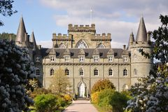Inveraray Castle in Scotland Royalty Free Stock Images