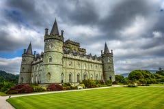 Inveraray kasztel w zachodnim Szkocja, Zjednoczone Królestwo Zdjęcia Stock