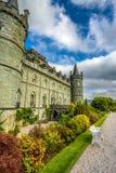Inveraray kasztel w zachodnim Szkocja, Zjednoczone Królestwo Obrazy Royalty Free