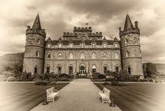 Inveraray kasztel w zachodnim Szkocja, Zjednoczone Królestwo Fotografia Stock