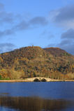 Inveraray landscape. View from the town of Inveraray, Argyll & Bute, Scotland, across Loch Fyne, in early morning light, showing the bridge over the river Aray Royalty Free Stock Photography