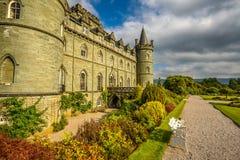 Inveraray slott i västra Skottland, Förenade kungariket Arkivfoton