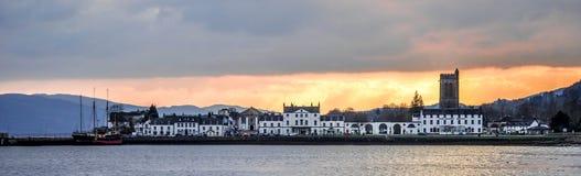 Inveraray-Sonnenuntergang lizenzfreie stockbilder