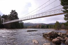 Invercauld Suspension Bridge, Royal Deeside Stock Photos