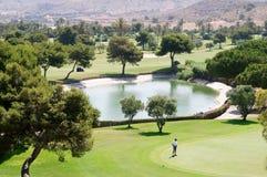 Inverdica il club di golf del campo fotografie stock libere da diritti