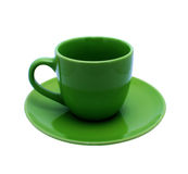 Inverdica la tazza vuota Fotografia Stock