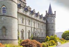 Invereray城堡与庭院的其他侧向看法 库存照片